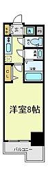 レジュールアッシュ天王寺堂ヶ芝[7階]の間取り