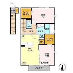 カモミールB[2階]の間取り