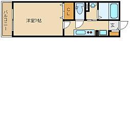 兵庫県尼崎市瓦宮2丁目の賃貸アパートの間取り