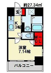 福岡県北九州市戸畑区三六町の賃貸マンションの間取り