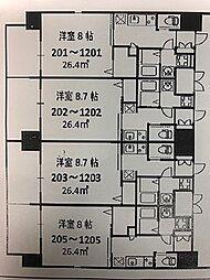 FOREST GRACE JYOTO KYOBASHI I[1002号室]の間取り