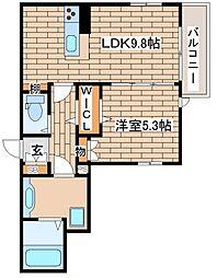 兵庫県神戸市中央区中島通2丁目の賃貸アパートの間取り