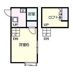 コスモ六実東[202号室]の間取り