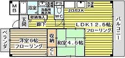 サンロイヤル新大阪[4階]の間取り