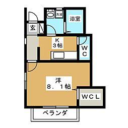 ソレイユパルクXI番館[1階]の間取り