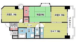 空港・リブレ大阪屋[1005号室]の間取り
