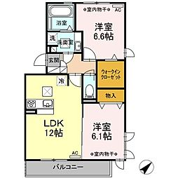仮)D-room 有玉南町[1階]の間取り