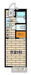 東京都世田谷区喜多見9丁目の賃貸アパートの間取り