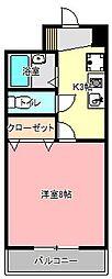 上島第一ビル[4階]の間取り