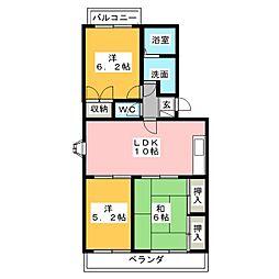 コンフォール松岡[1階]の間取り