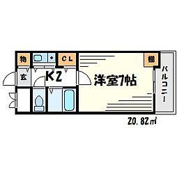 メゾン大和7号館[2階]の間取り