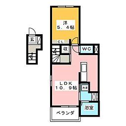 カーサ・アンダンテII[2階]の間取り