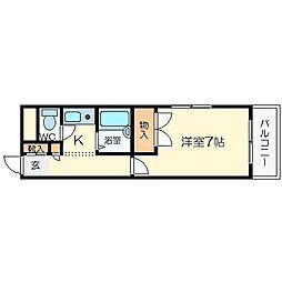 レインボー山崎[3階]の間取り