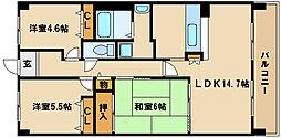 兵庫県神戸市西区学園西町1丁目の賃貸マンションの間取り