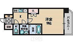 WGB江坂[601号室]の間取り