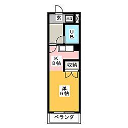 吉野屋ビルリーフコート[6階]の間取り