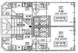 新築 シックス新宿[302号室号室]の間取り
