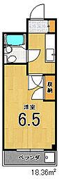 ハイライフ嵯峨[1階]の間取り