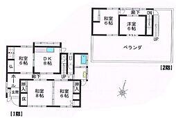 [一戸建] 愛媛県四国中央市中之庄町 の賃貸【/】の間取り
