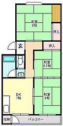 第一岸田マンション[3階]の間取り
