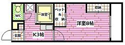 広島県安芸郡府中町青崎東の賃貸アパートの間取り