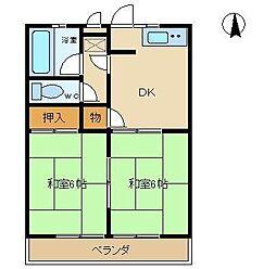 愛知県尾張旭市瀬戸川町1丁目の賃貸アパートの間取り