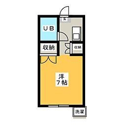 ツリービーマンション[1階]の間取り