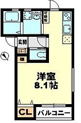 滋賀県草津市追分南3丁目の賃貸アパートの間取り