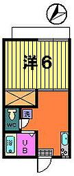 カネヨシハイツ[2−A号室]の間取り