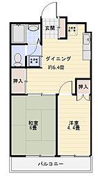 ローヤルマンション熊谷[202号室]の間取り