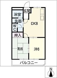 コットンハウスI[2階]の間取り