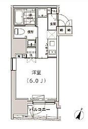 JR山手線 恵比寿駅 徒歩9分の賃貸マンション 7階1Kの間取り