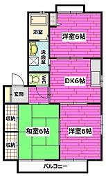 広島県安芸郡海田町稲葉の賃貸アパートの間取り