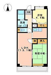パークハイツ荒子[11階]の間取り