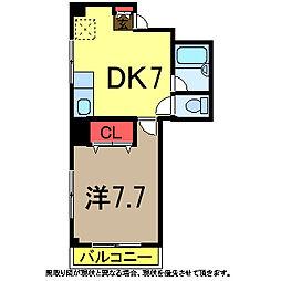 サイドスクエア[5階]の間取り