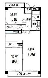 ラ・フォーレ一社[4階]の間取り