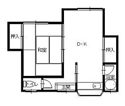 長崎県長崎市上小島5丁目の賃貸アパートの間取り