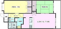 カーサ21永田[5階]の間取り