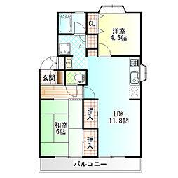 エレガンスHM[2階]の間取り