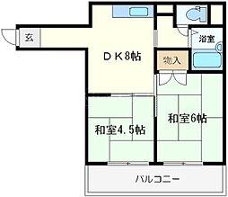グレイスフル桜川[3階]の間取り