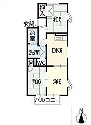 ドエリング栄[2階]の間取り