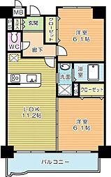 ニューシティアパートメンツ南小倉I[1012号室]の間取り