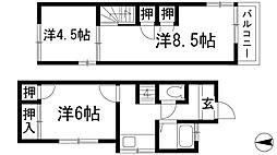 [テラスハウス] 兵庫県川西市美園町 の賃貸【兵庫県 / 川西市】の間取り