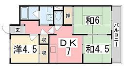 ハイツ和光[6階]の間取り