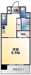 PHOENIX Clove Tomoi 8階1Kの間取り
