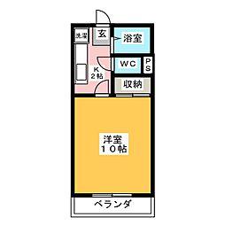 アメニティ中八木田[2階]の間取り