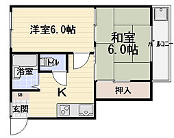 八雲東グリーンハイツ[4階]の間取り