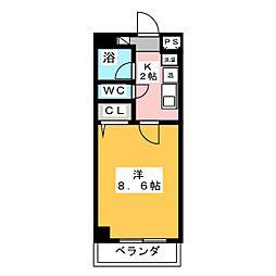 サンモール名駅[9階]の間取り