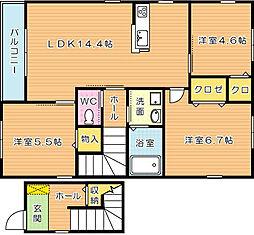 シャーメゾン則松 B棟[2階]の間取り