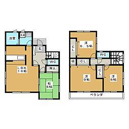 [一戸建] 宮城県仙台市太白区日本平 の賃貸【/】の間取り